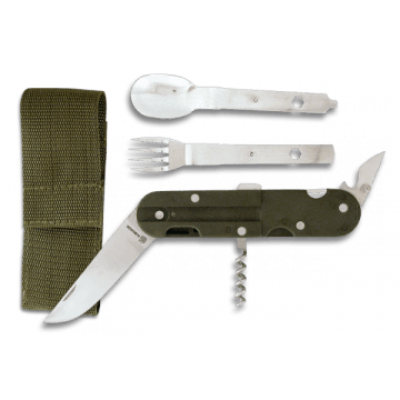 Multi-purpose tool for camping, with cover