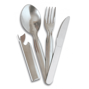 Set 3-piece stainless steel camping