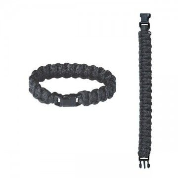 2.2 meters paracord bracelet. Black.