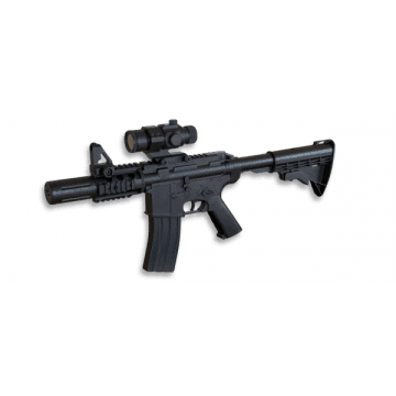 Electric rifle for airsoft, M4 CQB model replica. Mark Well