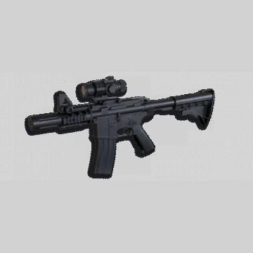 Fusil électrique pour l'airsoft, réplique du modèle M4 CQB. Mark Well