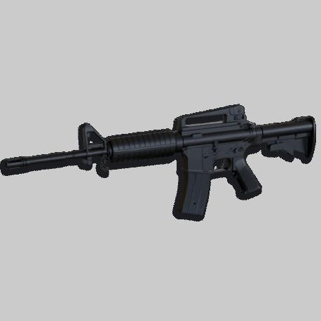 Aluminio CNC M16 Big Dragon Hop Up Complete para M4 Azul