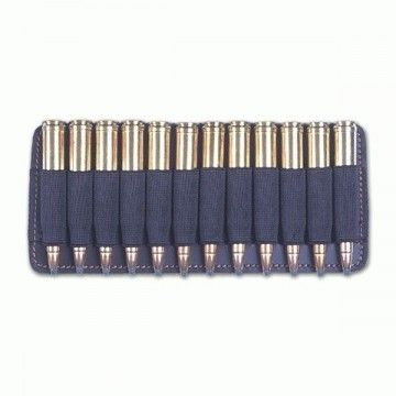 Leather Portamunicion with capacity for 12 rounds.