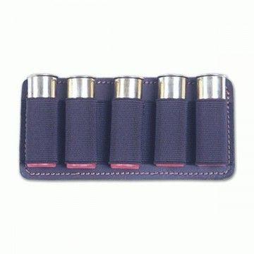 Portamunición de cuero con capacidad para 5 cartuchos.