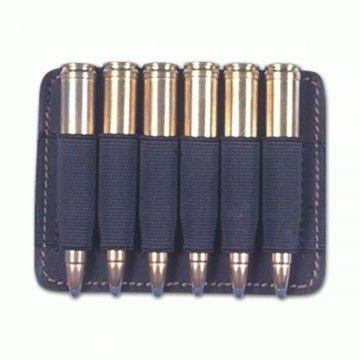 Portamunición de cuero con capacidad para 6 balas.
