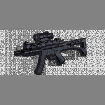 Subfusil eléctrico de airsoft, réplica del modelo MP5 marca Well