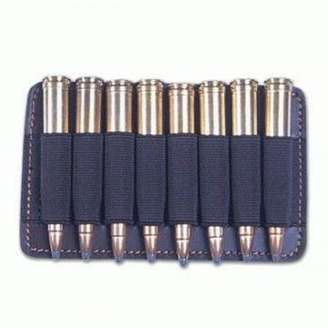 Portamunición de cuero con capacidad para 8 balas.