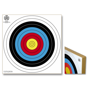 Coated pressed straw target. 80 x 80