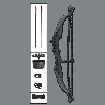 Kit arco compuesto con poleas, 25 LBS-Negro