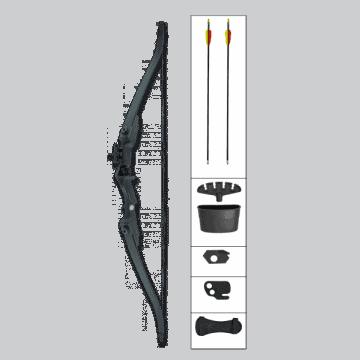 Kit arco recurvo , 20 LBS-Negro