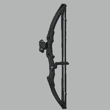 Arco con poleas 55lbs de color Negro