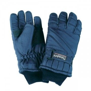 Nylon THINSULATE gloves. Blue.