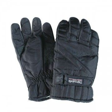 Guantes THINSULATE de nylon. Negro.