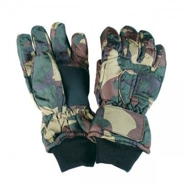 Nylon THINSULATE gloves. Camo.