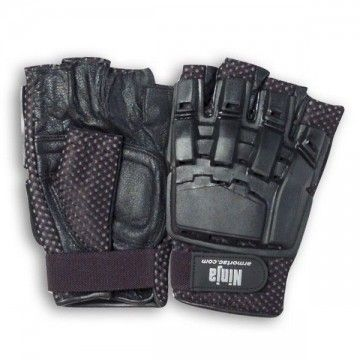 Mark STRIKE tactical gloves. Half finger. Black.