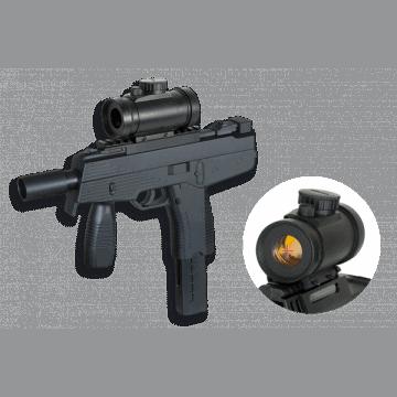 Maschinenpistole Frühling Airsoft Replika der Uzi mit Griff und Anwendungsbereich. Marke Doppeladler