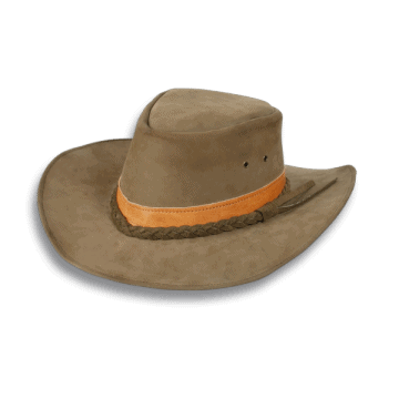 Skin type Texan hat. Tape.
