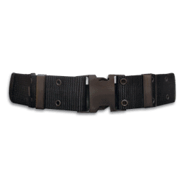 Military nylon belt. Black colour.  130 x 5.7 cm