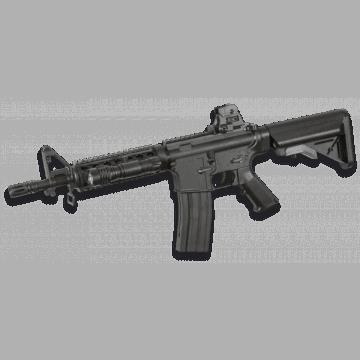 Submachine gun in dock for airsoft, the GR15 Raider model, Colt replica