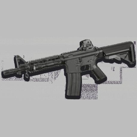 Fusil de muelle para airsoft, réplica de M4A1 CQBR, de la marca Colt
