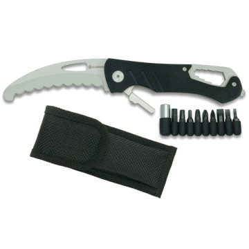 Albainox tactical knife handle of aluminium and accessories.