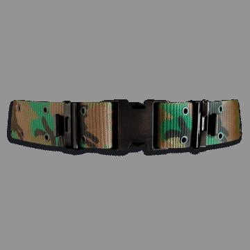 Cinturón militar de nylon. Color Camo. 130 x 5.7 cm
