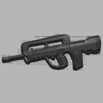 Gun spring airsoft replica of the model FAMAS Spring.