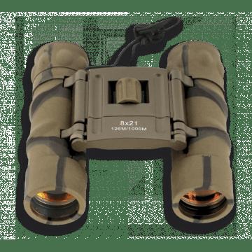 Binoculars 8 x 21 Albainox. Ruby lens. Camouflage.