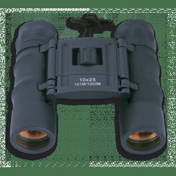Binoculars 10 X 25 Albainox. Ruby lens. Black.