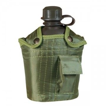 PVC, green cover and 1 L bottle.