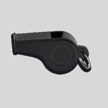 Silbato negro con anilla 5 cm