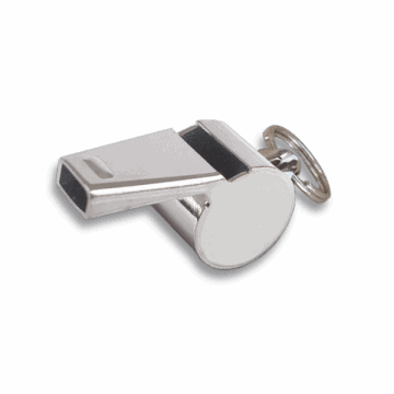 Whistle chrome-plated ring