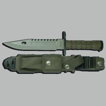 Cuchillo Táctico- bayoneta de 32.4 cm, con mango de PVC