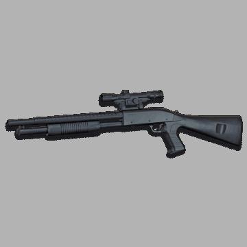 Escopeta de muelle para airsoft, réplica del modelo Franchi sas 12 shotgun, de la marca Cyma