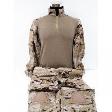 Uniform combat style camo arid.