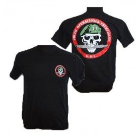 T-shirt special operations group. Skull.
