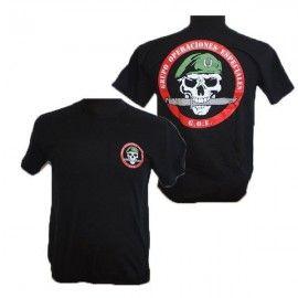 Camiseta Grupo de Operaciones Especiales. Calavera.