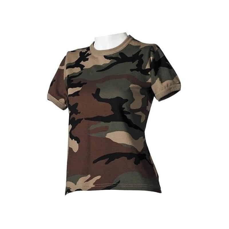 comprar popular 5a736 4c5fb Camiseta militar de mujer estilo camo boscoso - Annack Militar