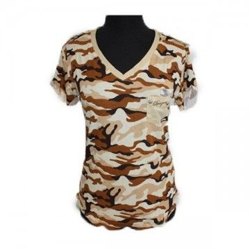 Camiseta militar de mujer estilo desert camo