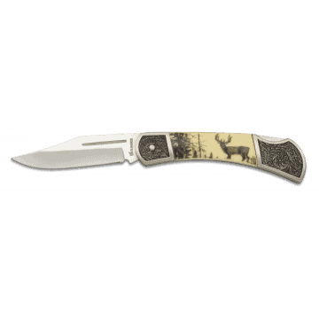Decorated with handle in zamak and ABS 8 cm. I Albainox knife