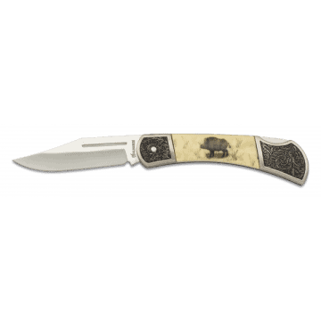 Albainox knife decorated with handle in zamak and ABS 8 cm. II