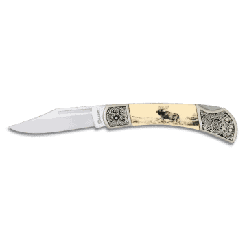 Albainox knife decorated with handle in zamak and ABS 7 cm.