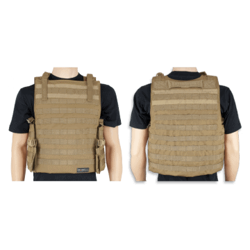 Tactical vest Barbaric P-3, Coyote color. Molle system