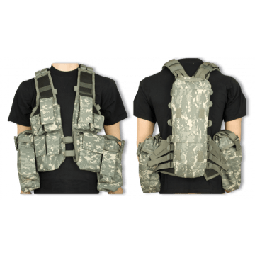 Digital ACU tactical vest. Barbaric.