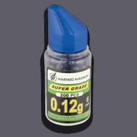 Biberón de 200 bolas de pintura azules. Del calibre 6 mm
