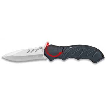 Tactical knife with 9 cm aluminium handle.