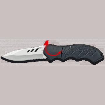 Taktisches Messer mit 9 cm Griff aus Aluminium.