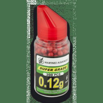 Flasche rot 200 Paintballs. Das Kaliber 6 mm