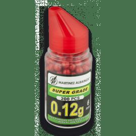 Biberón de 200 bolas de pintura rojas. Del calibre 6 mm