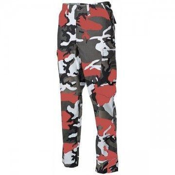 Pantalones militares M65, estilo camo Red.